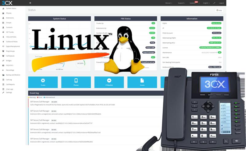 3CX Lands on Linux with V15 SP2 - 3CX IPPBX 電話系統(香港
