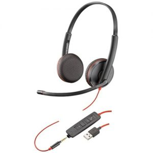 Plantronics Blackwire C3225 UC Wired USB-A Binaural Headset With 3.5mm