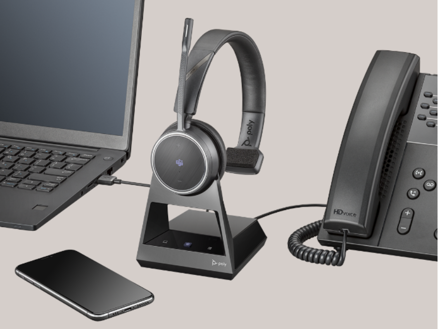 Poly Voyager 4210 Office 2 Way Base MS Teams Wireless Headset (Plantronics)
